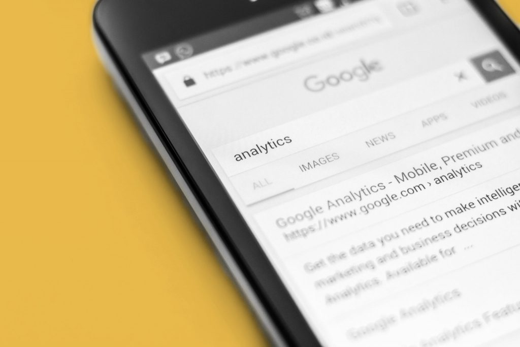 Google search results in a mobile screen