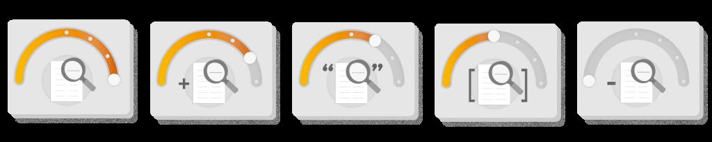 termômetro de correspondência de palavras-chave
